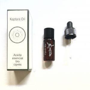 aceite esencial de ciprés bio, quimiotipado primera presion contorno de ojos